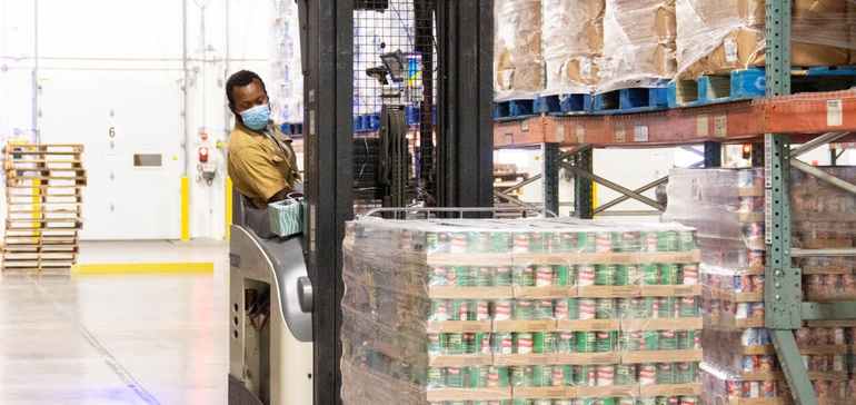 As food banks gear up for the holiday season, warehouse throughput is key